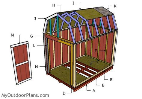 free shed plans 8x12 8x12 gambrel shed roof plans myoutdoorplans free