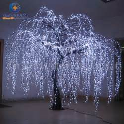 china lighted willow tree real look trunk led indoor out door artificial tree lights