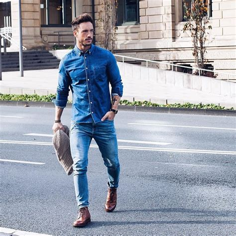 Best 25+ Men denim shirt outfit ideas on Pinterest | Denim shirt style Men fashion casual and ...