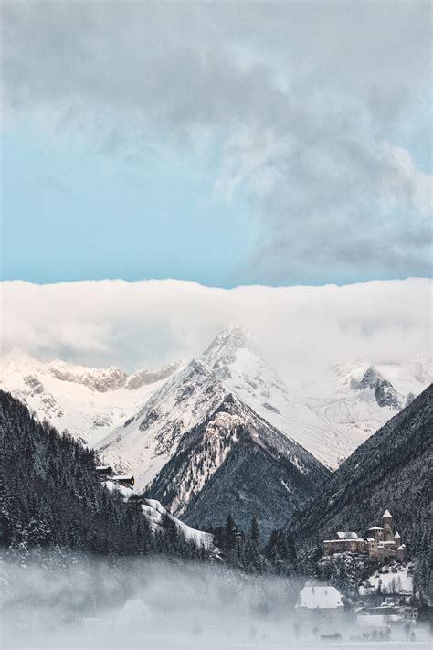 photography  mountains  winter  stock photo