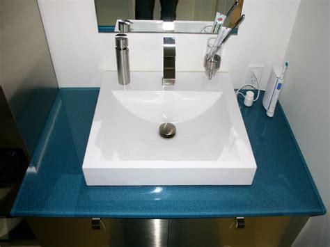 Cbd Custom Bathroom Glass Vanity Countertop