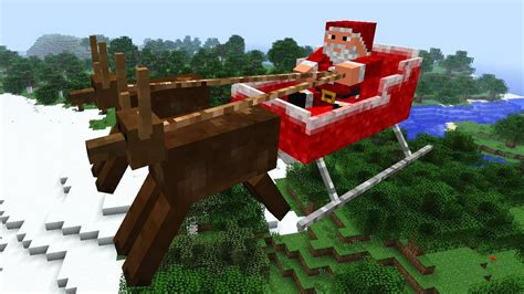 minecraft christmas mod review flying santa youtube
