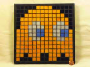 Minecraft Pixel Art Grid Pacman