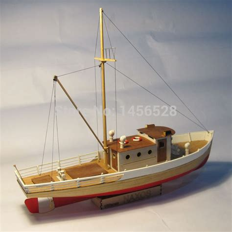 Fishing Boat Model by Classic Wooden Sailing Boat Scale Model Wood Scale Ship 1