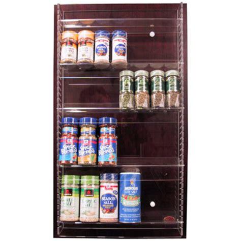 Adjustable Spice Rack by Acrylic Adjustable Kitchen Spice Rack Mount On Any Door