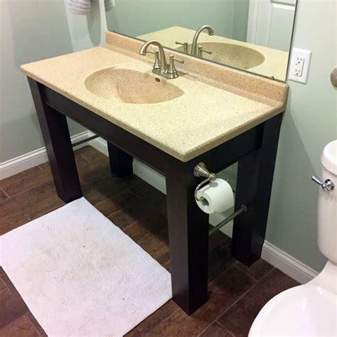 ada compliant bathroom vanity make an ada compliant vanity for your bathroom christian