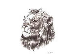 Lion Head with Crown Tattoo Design