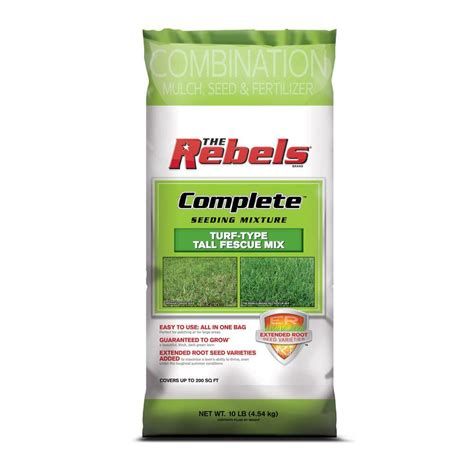 The Rebels Complete 10 Lb Tall Fescue Seed Mix With Mulch