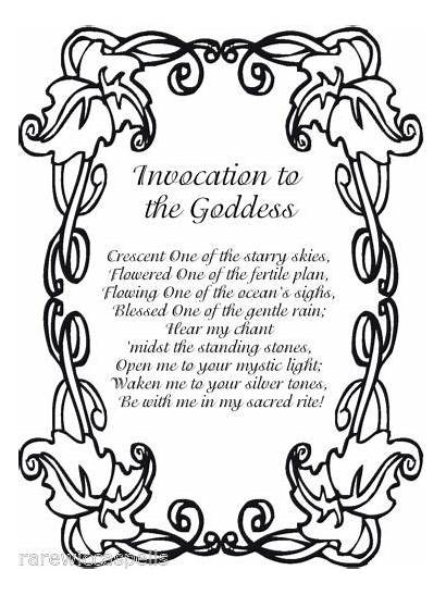 Goddess Spells Shadows Wicca Spell Invocation Wiccan