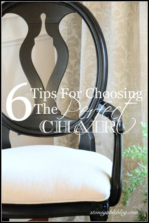 6 Tips For Choosing The Perfect Chairs