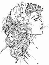 Tattoo Gypsy Tattoos Coloring Head Designs Tymannost Ru Soul sketch template
