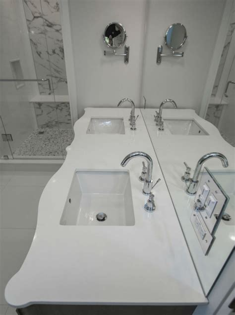 countertop white quartz toronto custom concepts
