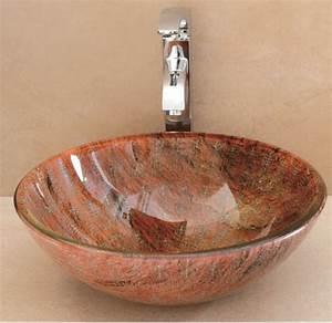Vasque En Verre Salle De Bain : vasque de salle de bain en verre elegant le succs des ~ Edinachiropracticcenter.com Idées de Décoration