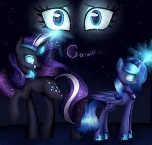 Nightmare Rarity and Princess Luna by Princess-Liliana on ...