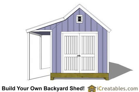 10x16 colonial garden shed with porch plans
