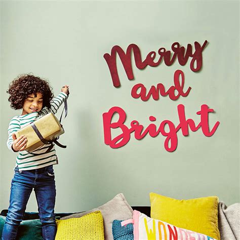 merry  bright christmas wall decoration  house