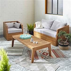 Salon De Jardin Acacia : salon de jardin tables et chaises le mobilier de jardin alin a ~ Teatrodelosmanantiales.com Idées de Décoration