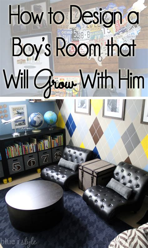 {decorating with style} How to Decorate a Boy's Room That Will Grow with Him   Blue i Style