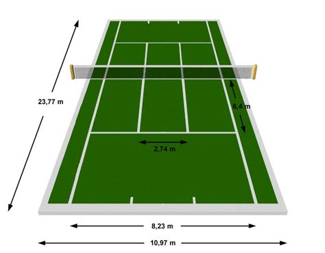 It's not just the size of the actual playing area that is important. A proposal for changing the rules of tennis