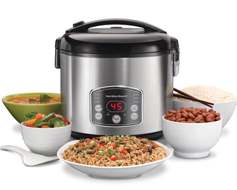 rice in rice cooker amazon com hamilton beach 37541 digital simplicity rice cooker steamer kitchen dining