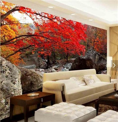 room wallpaper custom mural  woven wall stickers red