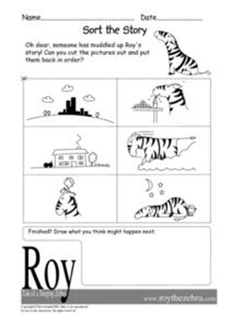 roy the zebra worksheets sort the story roy the zebra kindergarten 1st grade