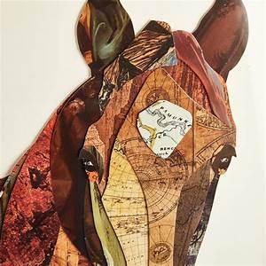 Horse, Collage, Wall, Art, Asst, 2, Designs