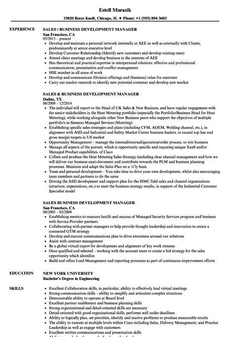 Business Development Sales Manager Resume sales business development manager resume sles velvet