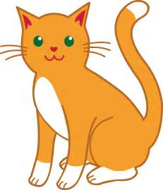 cat clipart orange and white cat free clip