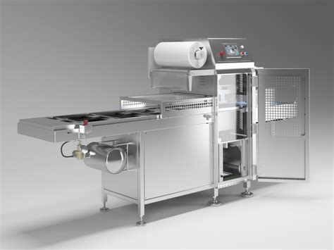 automatic seal system  map containers vacuum skin packs seal  trays