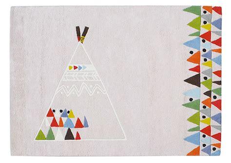 Indianer Tipi Kinderzimmer by Lilipinso Kinderteppich Baumwolle Indianer Tipi Zelt