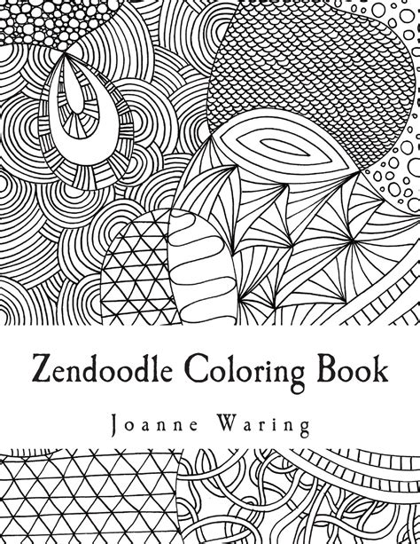 zendoodle coloring book coloring page