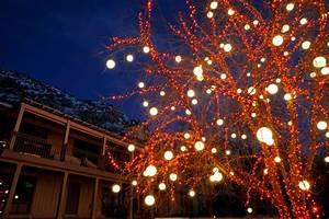 Blue And White Holiday Lights Light Spheres Utah Brite Nites