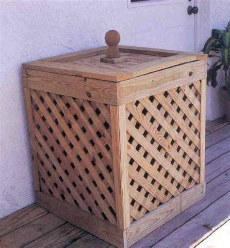 trash container outdoor wood plans