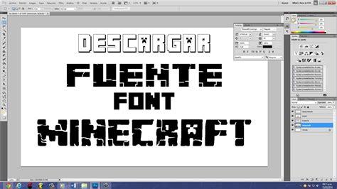 Descargar Fuente (font) De Minecraft