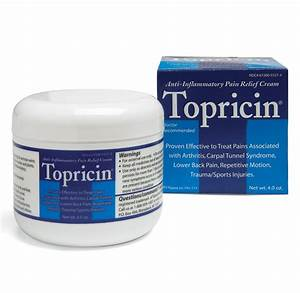 topricin anti-inflammatory pain relief and healing cream