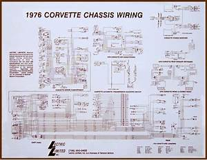 Corvette Wiring Diagram Laminated 17 X 22 71    74053x