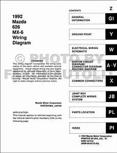 1995 Mazda 626 And Mx 6 Wiring Diagram Original