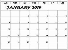 January 2019 Calendar Kalnirnay Printable Template with