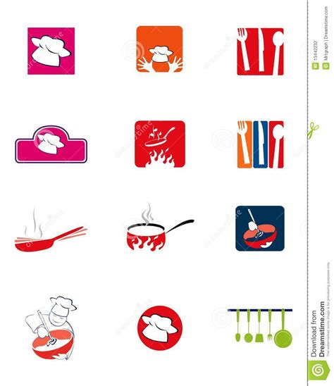 logo de cuisine logos de cuisine illustration de vecteur illustration du logo 13442232