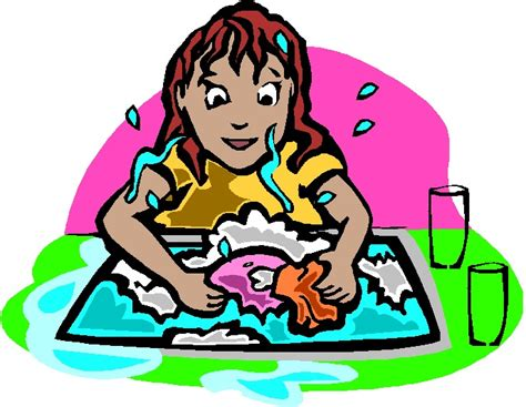Washing Dishes Clipart Washing Up Clip