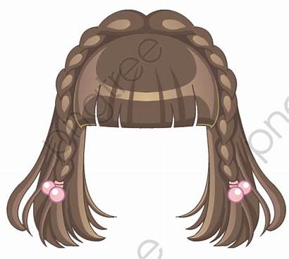 Anime Hairstyle Brown Cartoon Transparent Hairstyles Clipart