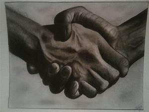 Hand Shake Digital Art by Edwin Lopez