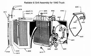 flathead parts drawings radiators With 1949 ford coe truck