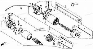 Honda Atv 1988 Oem Parts Diagram For Starter Motor