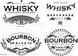 Bourbon Vector Whiskey Whisky Labels Retro Four Clip Alcohol Graphics Scotch Illustration Illustrations Label Bottle Clipart Template Bar Istock Graphic sketch template
