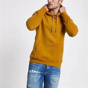 Sweat A Capuche Jaune : sweat capuche jaune manches longues jaune homme ~ Melissatoandfro.com Idées de Décoration