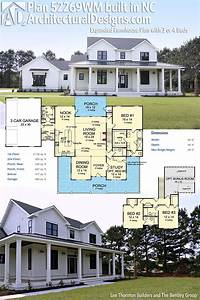 Plan 52269WM Expanded Farmhouse Plan With 3 Or 4 Beds