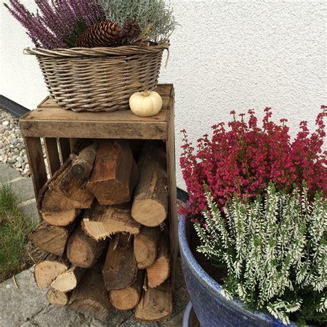 Herbstdeko Garten Vintage by Herbst Deko 2016 Vintage Look Holzscheite
