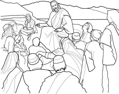 sermon   mount coloring page